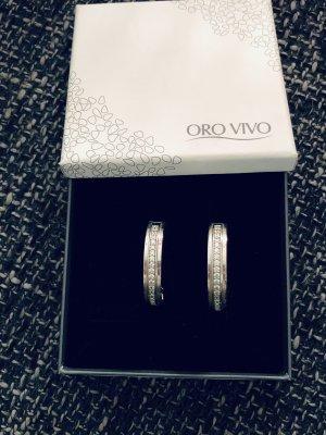 Ohrringe Silber mit Strasssteinchen von Oro Vivo