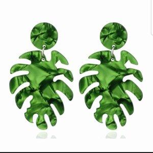 Pendant d'oreille vert gazon-vert forêt