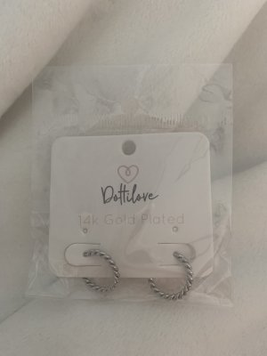 Ear Hoops silver-colored