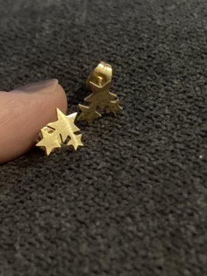Ohrringe Stecker Sterne gold wasserfest