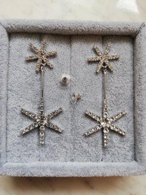 Zdobione kolczyki srebrny Metal
