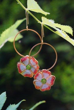 Ohrringe - Stiefmütterchen - Blumen