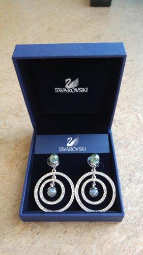 Swarovski Silver Earrings silver-colored-azure