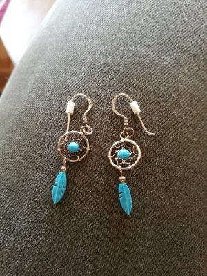 Bungeloorbellen lichtblauw-zilver