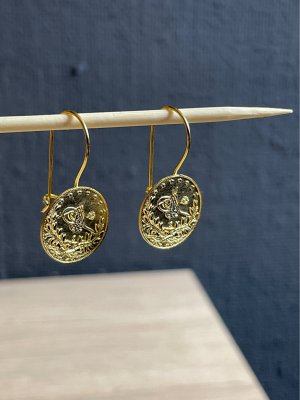 925er Silber Pendant d'oreille doré