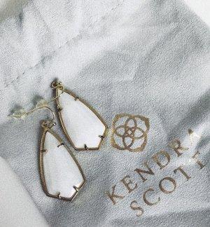 Kendra Scott Bungeloorbellen goud-wit