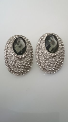 Ear stud silver-colored-anthracite