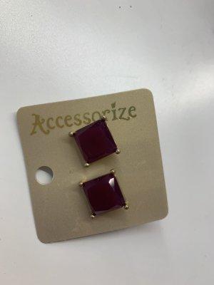 Accessorize Zarcillo violeta amarronado