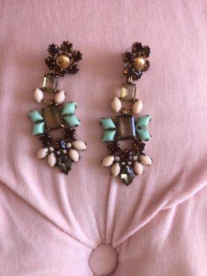 Stella & Dot Boucle d'oreille incrustée de pierres multicolore