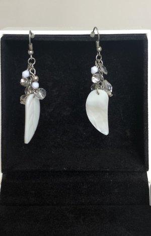Accessoires Pendientes colgante color plata-blanco