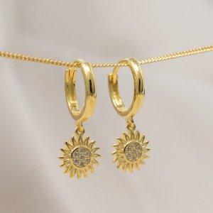 Pendientes de oro color oro