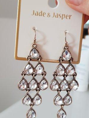 Jade & Jasper Bungeloorbellen wit-goud