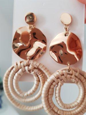Sandrine Pendientes de plata color oro