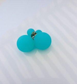 Accessoires Orecchino a vite azzurro