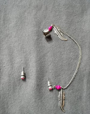 unknown Ear stud silver-colored-pink