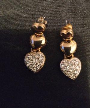 Złote kolczyki złoto Metal