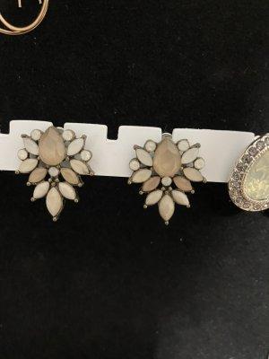 Kolczyk ze sztyftem w kolorze różowego złota-biały