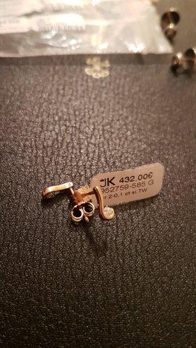 Ohrstecker 585 Gelbgold mit Brillanten. Jeweils 1 Brillant 0.05ct. Si/TW. Unbenutzt. UVP 432€