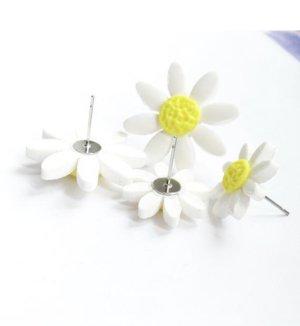 Handmade Zarcillo blanco-amarillo