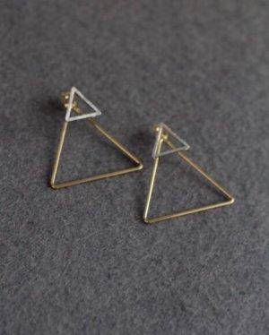 Ohrstecker in Dreiecksform handmade