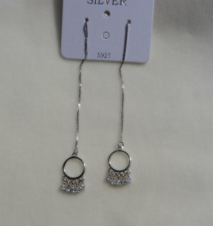 Silver Earrings silver-colored real silver