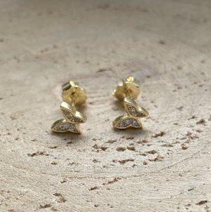Silver Pendientes tipo aro color oro