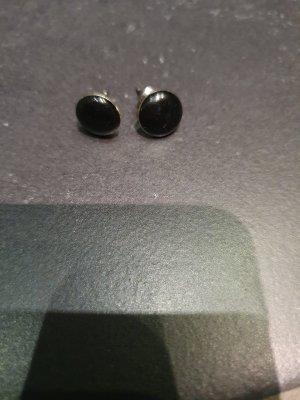 Vero Moda Zarcillo negro-color plata