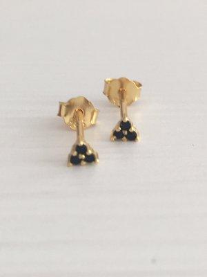 Ear stud gold-colored-black
