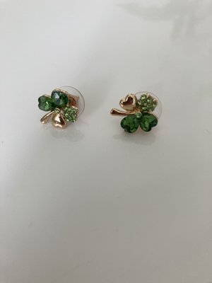 Ear stud gold-colored-green