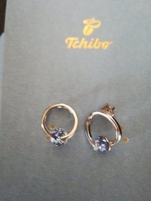 Tchibo / TCM Clou d'oreille gris clair-bleu azur