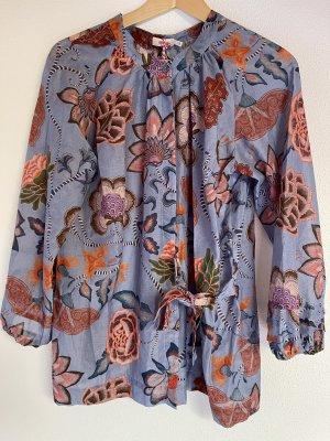 Oilily Bluzka kimono błękitny Bawełna