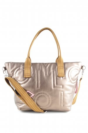 Oilily Bowling Bag silver-colored-light orange printed lettering casual look