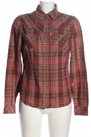 Oilily Flanellhemd braun-pink Allover-Druck Casual-Look