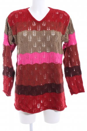 Oilily Grobstrickpullover Streifenmuster Casual-Look