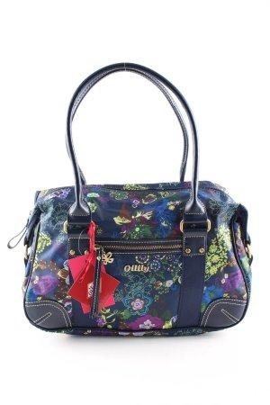 Oilily Handtasche blau-grün Blumenmuster Casual-Look