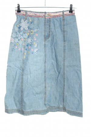 Oilily Jeansrock blau-pink Allover-Druck Casual-Look