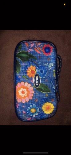 Oilily Kosmetik Tasche blau Blumen bunt