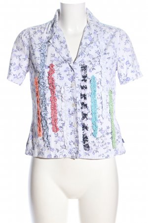 Oilily Kurzarmhemd Allover-Druck Casual-Look