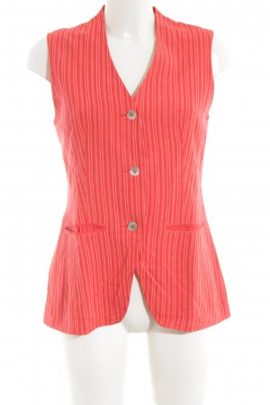 Oilily Longstrickweste rot-nude Streifenmuster Casual-Look