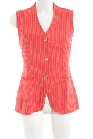 Oilily Lang gebreid vest rood-nude gestreept patroon casual uitstraling