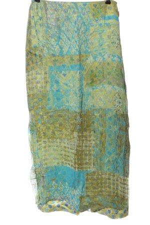 Oilily Falda larga azul-amarillo pálido look casual