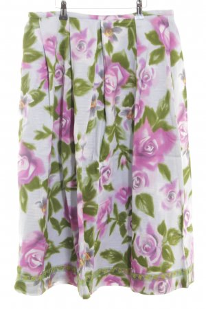 Oilily Midirock pink-grün Allover-Druck Casual-Look