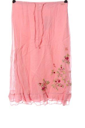Oilily Falda midi rosa look casual