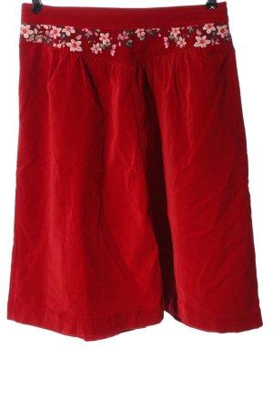 Oilily Falda de talle alto rojo look casual