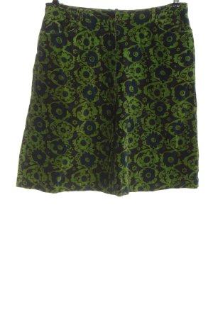 Oilily Minifalda verde-marrón estampado con diseño abstracto look casual
