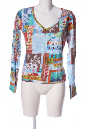 Oilily Print-Shirt abstraktes Muster Casual-Look