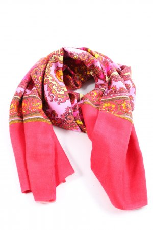 Oilily Neckerchief pink-primrose abstract pattern casual look