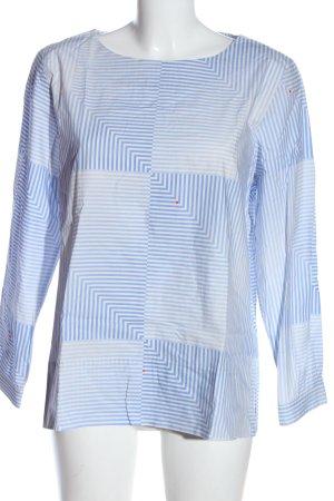 Oilily Blusa caída azul-blanco estampado a rayas look casual