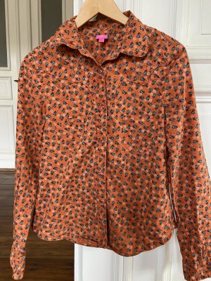 Oilily Blusa-camisa naranja-blanco Algodón