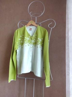 Oilily Veste en tricot gris vert-vert gazon